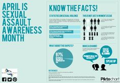 April is Sexual Assault Awareness Month! Wear teal to show your support!