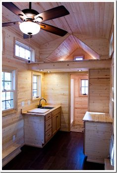 "I'll take mine ""TO GO"" tiny house travel trailer! best of both worlds."