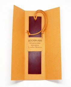 Burgundy Leather Bookmark Handmade Gift for Reader Him Her Teacher Professor Friend Student Christmas Gift $12.00 by Leather Motives