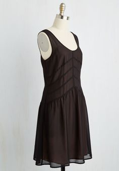 Have a Sashay in It Dress. Your opinion on how to go about a Saturday is to slip into this black dress and waltz around downtown! #black #modcloth