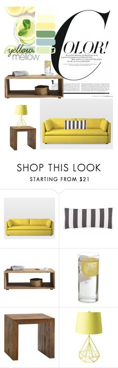 """""""Yellow"""" by lyssalove28 ❤ liked on Polyvore featuring interior, interiors, interior design, home, home decor, interior decorating, West Elm and Pine Cone Hill"""