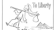 From Slavery To Liberty - Coloring sheet for passover