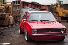 Slammed & Fitted VW Golf MK1 Euro Stance (11)