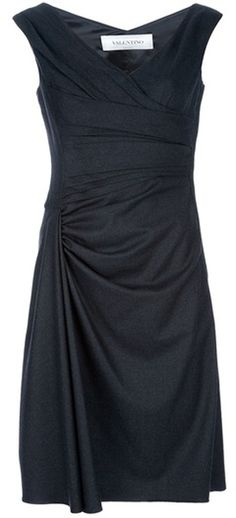 Valentino Gray Sleeveless Dress