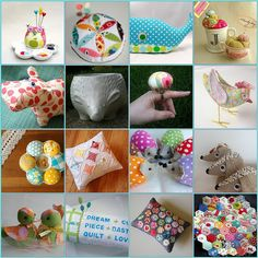 Scrappy Pin Cushion Swap 3  Inspiration by PinkPlease!, via Flickr