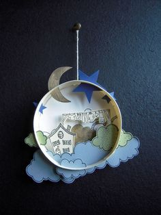 Paper world in a cheese box by Kevan Dreveau | Бумажный мир в коробочке из-под сыра Кевана Дрюво