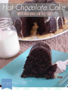 Hot Chocolate Cake with Marshmallow Frosting!