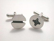 Silver Cuff Links by Connie Verrusio