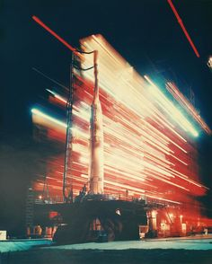 beautiful image of a Thor-Able rocket on the launch pad at Cape Canaveral, circa 1959. (San Diego Air & Space Museum)