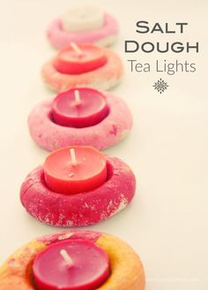 Salt Dough Tea Light Holders. These make the perfect Christmas Gift and…