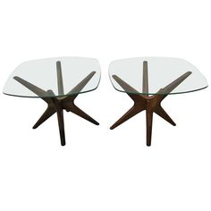 1stdibs.com | Fabulous Pair of Adrian Pearsall Jax Side Tables Mid-century Modern