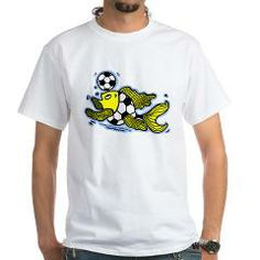 Football Fish Soccer White T-Shirt > Football Fish Soccer > FabSpark, Gifts that make you smile:)
