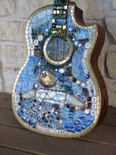 How to Mosaic a Guitar - Rhythm and Blues Mosaic Guitar