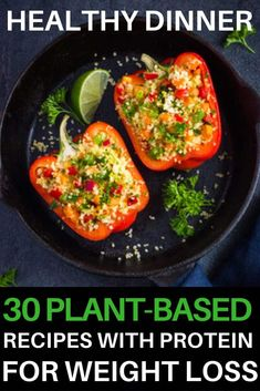 If you're looking for tips on how to start a Plant-Based Diet to lose weight or eat healthier then check out this beginner's guide to the Plant-Based Diet! You'll find grocery lists and 90 simple clean eating recipes for breakfast, lunch, and dinner! With meal planning tips for healthy eating on a budget & a list of sources of protein, you'll have everything you need to reach your weight loss & nutrition goals! #plantbased #vegan #healthy #cleaneating