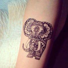 Mandala - éléphant - tatoo - tatouage - avant bras -