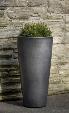 Exceptionnel Aluan Tall Round Planter In Graphite By Campania International Tall Outdoor  Planters, Urn Planters,