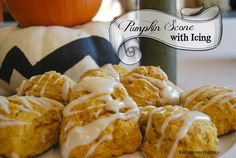 Pumpkin Scones with Icing are perfect with my coffee in the morning!