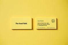 The Food Field branding by Parametro studio   http://mindsparklemag.com/design/the-food-field-branding/