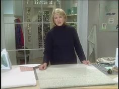 Martha Stewart offers tips on how you can easily make a decorative ottoman slip cover.