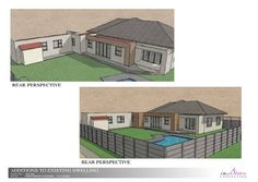 of a proposed extension for a client in Pinelands Perspective Drawing, Conceptual Design, Shed, Outdoor Structures, Mansions, House Styles, Home Decor, Decoration Home, Manor Houses
