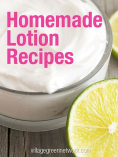 Homemade Lotion Recipes / http://villagegreennetwork.com/homemade-lotion-recipes/