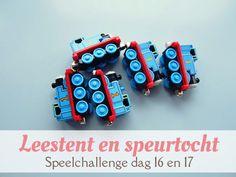 Idee voor een zoekspel binnenshuis en een leestent. Onderdeel van een speelchallenge. van: www.mizflurry.nl