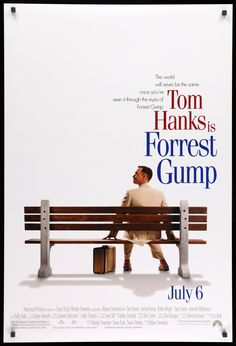 Forrest Gump Original One-Sheet Movie Poster - Original Film Art - Vintag. - Cinema - Movies and Iconic Movie Posters, Iconic Movies, Good Movies, Original Movie Posters, Great Films, 90s Movies, Comedy Movies, Sherlock Poster, Film Poster Design
