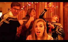"""""""And we can't stop drinking eggnog, we got the candy canes on the tree, we got the Charlie Brown on TV..."""" Must watch video!!!"""