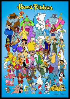 How many cartoons can you name? Brings back lot of good memories. Enlarge to view