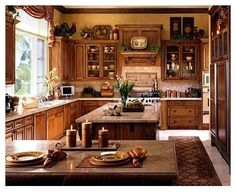 If you are having difficulty making a decision about a home decorating theme, tuscan style is a great home decorating idea. Many homeowners are attracted to the tuscan style because it combines sub… Above Kitchen Cabinets, Tuscan Kitchen, Home Kitchens, French Country Decorating Bedroom, Country Kitchen Designs, Kitchen Cabinets Decor, Cabinet Decor, French Country Kitchen, Tuscan Kitchen Colors