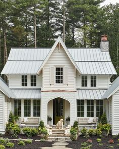 Style At Home, Southern Living Homes, Dream House Exterior, Best House Plans, Farmhouse Plans, Coastal Farmhouse, French Farmhouse, House Goals, Home Fashion