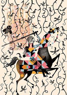 Lesley Barnes - Brothers Grimm illustration