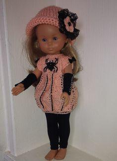 Tenue en tricot pour Halloween pour poupée de 33 cm de type les Chéries de Corolle : Jeux, jouets par poupee-cherie