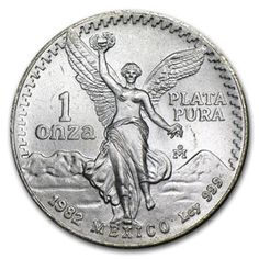 North & Central America Mexico 1 Onza Plata Pura Smart 1992 Mexico Onza Libertad Silver Bullion Coin