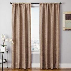 "Softline Home Fashions Basso Single Curtain Panel Size: 54"" W x 108"" L"
