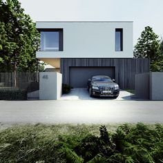Contemporary garage door.