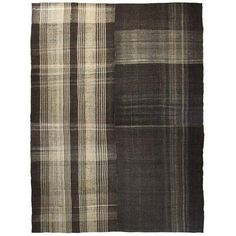 Contemporary Style Goat Hair Kilim - 11′ × 14′1″ (€1.390) ❤ liked on Polyvore featuring home, rugs, traditional handmade rugs, turkish kilim rugs, modern contemporary rugs, contemporary modern area rugs, turkish tribal rugs and tribal area rugs