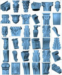 More than 60+ 3d STL Models - Collection for CNC relief artcam vectric aspire