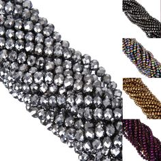 New! 6MM 100pcs/lot Faceted Round Glass Bicone Spacer Rondelle Stand Beads DIY Jewelry Making Free Shipping