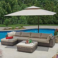 10 Ft. x 10 Ft. Square Cantilever Umbrella with Protective Cover - Sam's Club