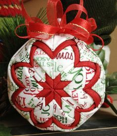 Quilted christmas ornaments, No sew and Christmas ornament on ...