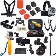 Find More Tripods Information about Best go pro accessories kit   with 36 Gopro accessories items  For Gopro Hero 4 3 2 Black Edition  SJ4000 Xiaomi yi chest tripod,High Quality mount photo,China mount iphone Suppliers, Cheap mount post from DSD SPORT on Aliexpress.com