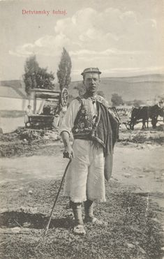 Lad from Detva, Slovakia Pavol Socháň Old Photography, Vintage Photographs, Ancestry, Old Photos, Westerns, Nostalgia, Traditional, Painting, Fictional Characters