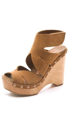 Agatha Suede Wedge Sandals by IZZY55