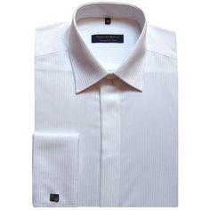 Biela košeľa na manžetové gombíky