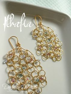 Thalia chainmaille 14K gold filled with mystic by darleenmeier, $64.00