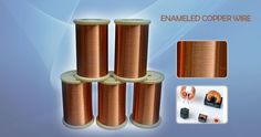 Enameled copper wire is copper wire coated by a insulating paint usually colored red.  http://aluminumwire.en.alibaba.com/