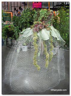 Chicken Wire Gown- garden wedding decor