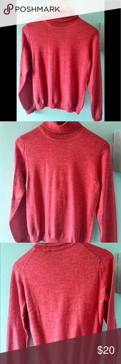 Brooks Brothers Women's medium turtleneck sweater Brooks Brothers Womens Medium Turtleneck Sweater Pink Coral. Condition is Pre-owned. Shipped with USPS First Class Package. 70% merino wool. 20% silk. 10% Cashmere. Brooks Brothers Sweaters Cowl & Turtlenecks