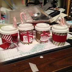 crafts with mini coffee cups..cute
